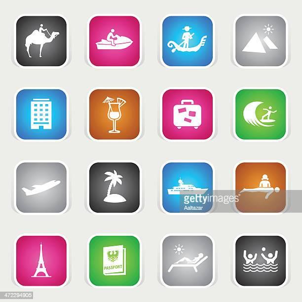 Multicolor Icons - Vacation