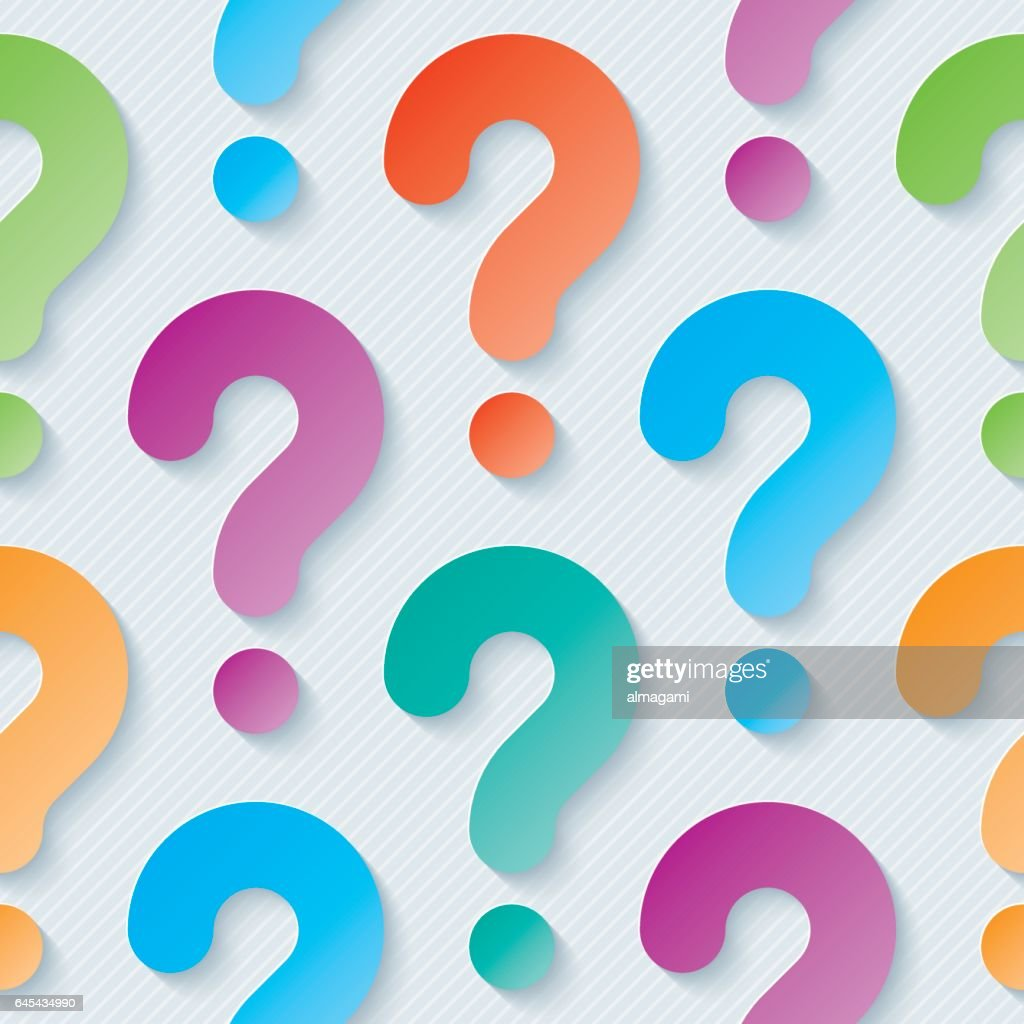 Multicolor question marks seamless wallpaper pattern.