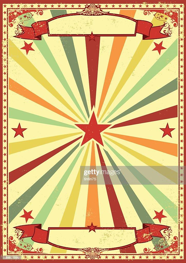 Multicolor retro sunbeams background