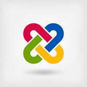 multicolor solomon knot.