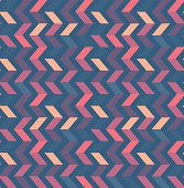 Multicolor zigzag seamless pattern. Modern Colour trends.