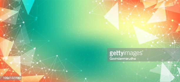 Multi-Colored Abstract polygonal dark background