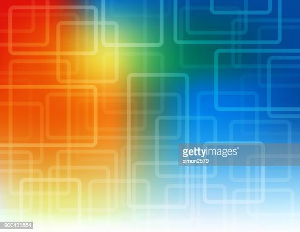 Multi-colored background with fading lines pattern