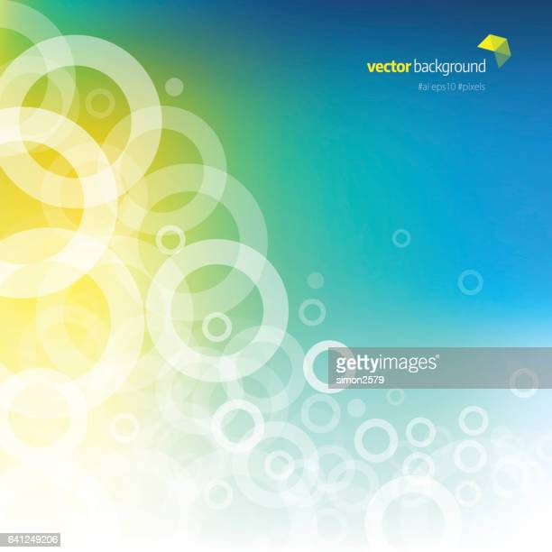 Multi-colored background with fading white circles