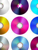 CD/DVD multicolored Disks