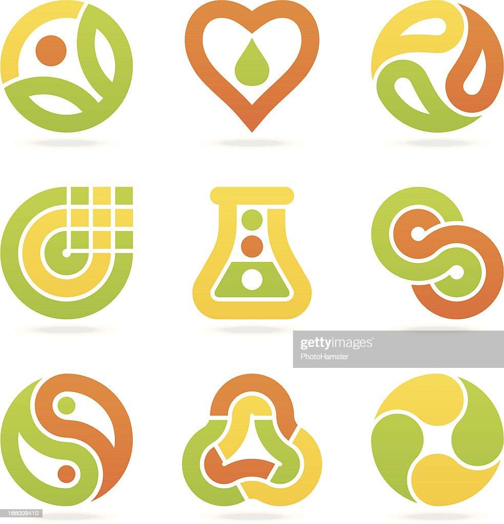 multicolored eco symbols