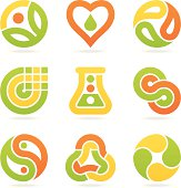 multicolored eco symbols