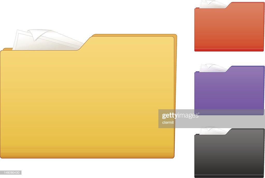 Multicolored folder icons