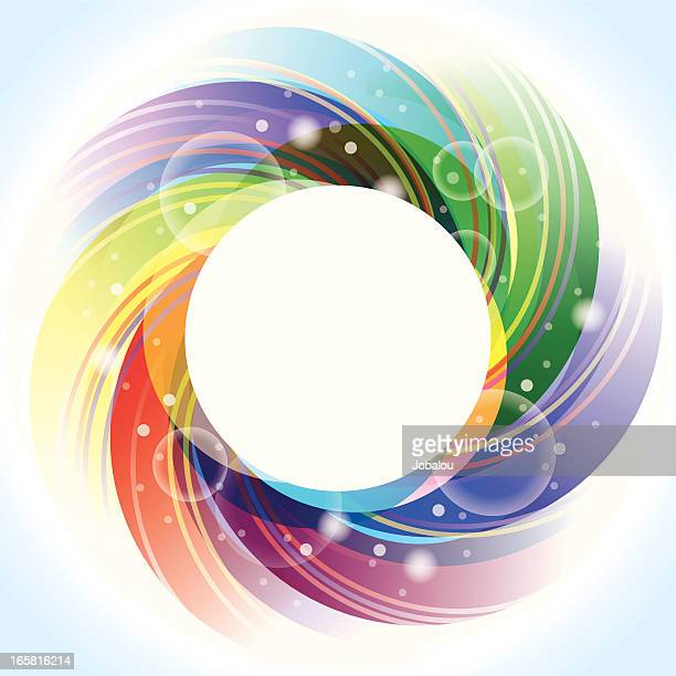 multicolored iris lens - aperture stock illustrations, clip art, cartoons, & icons