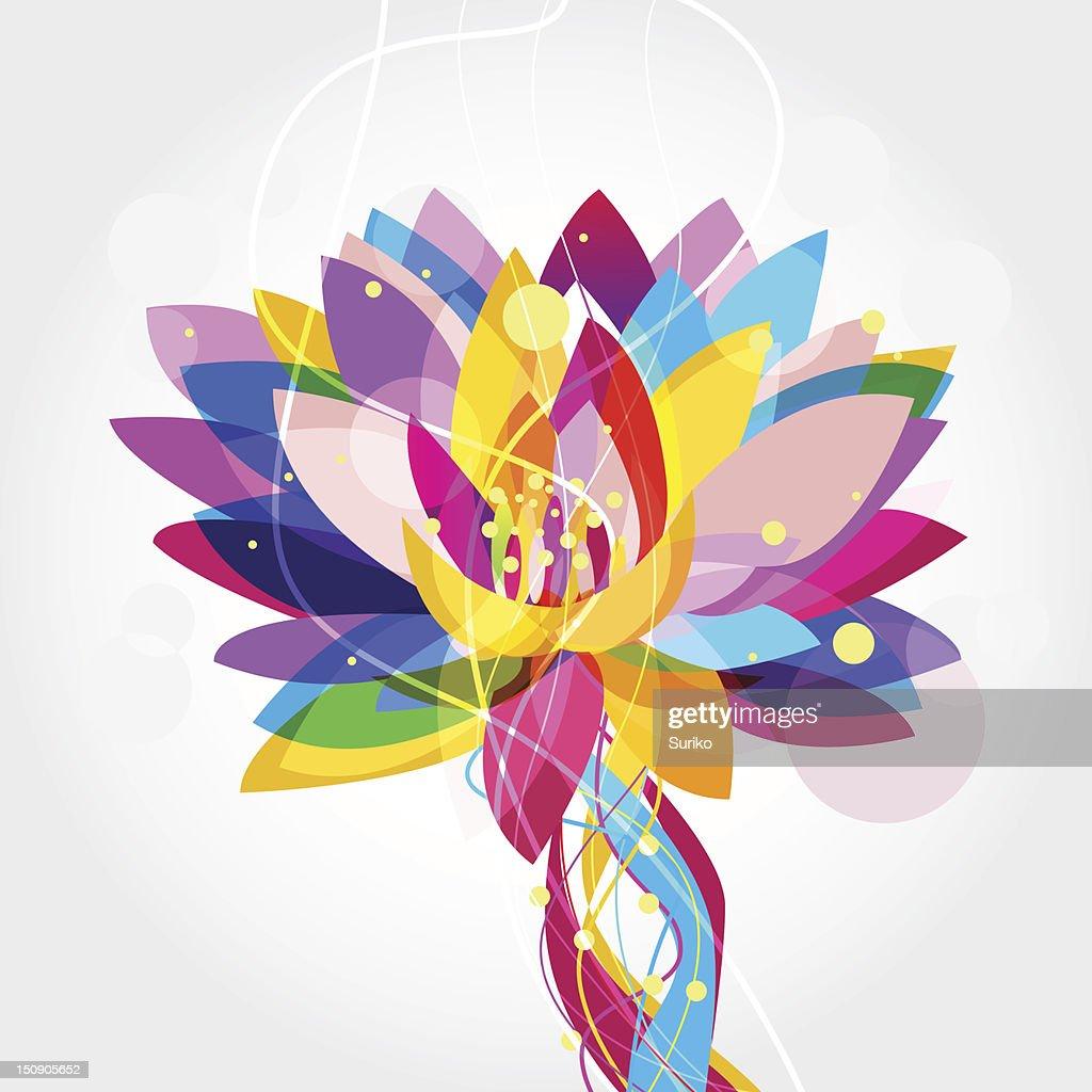 Multicolored lotus flower graphic vector art getty images multi colored lotus flower graphic vector art izmirmasajfo