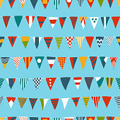 Multicolored Pattern with Nautical Flags
