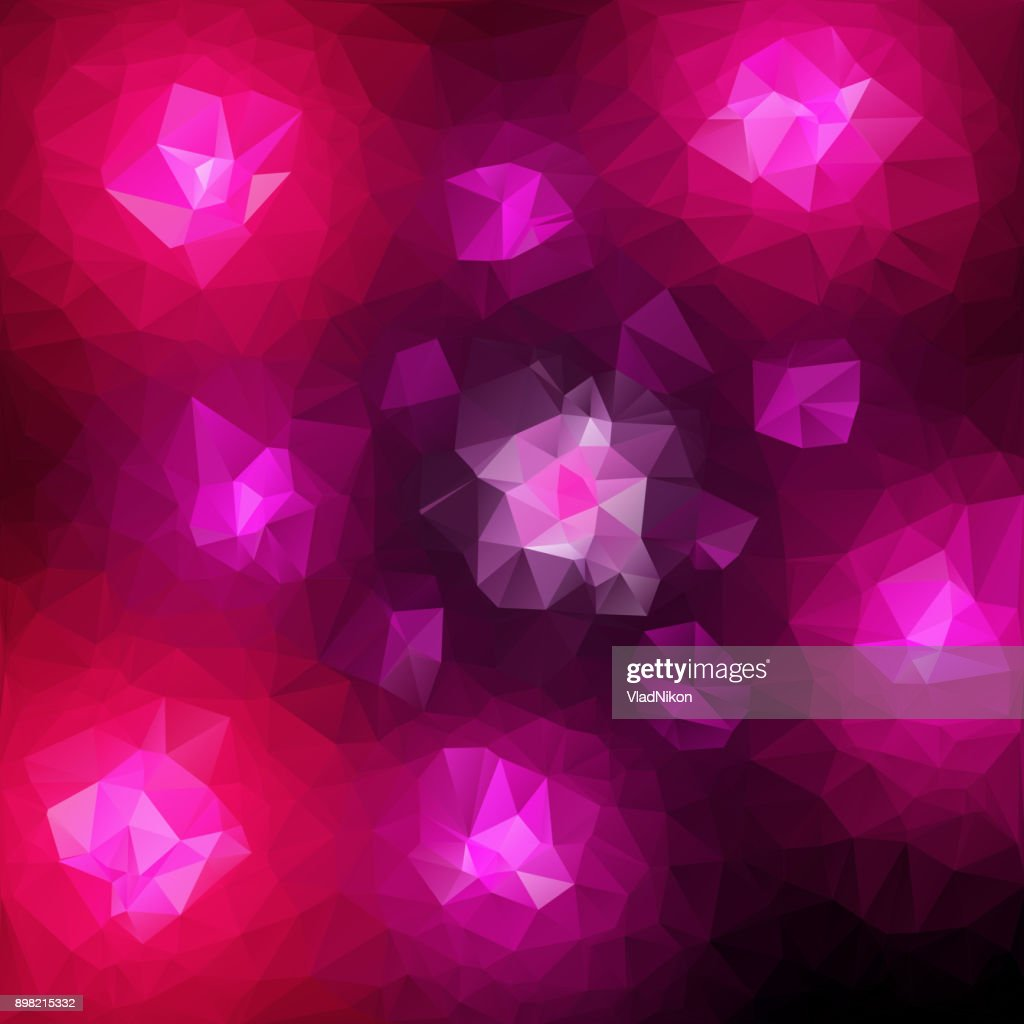 Multicolored polygonal vector mosaic background.