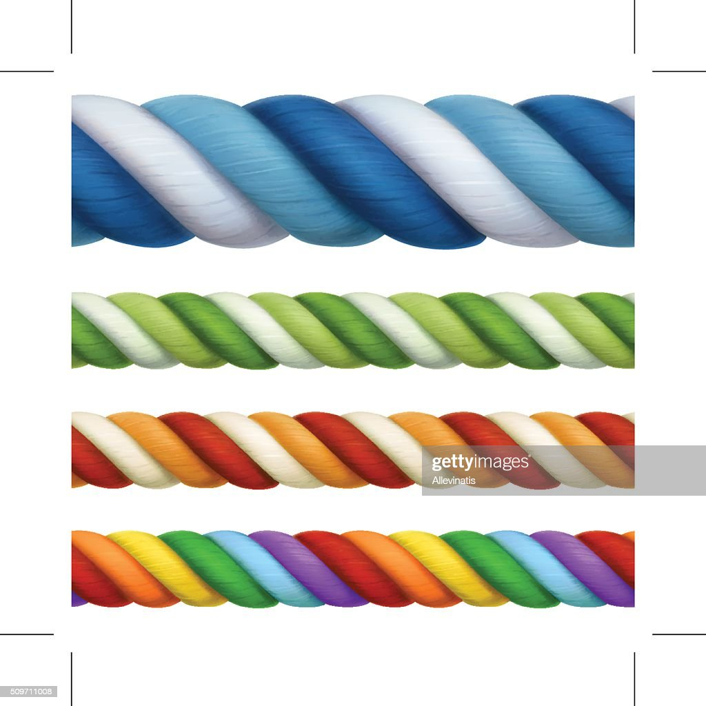Multicolored ropes