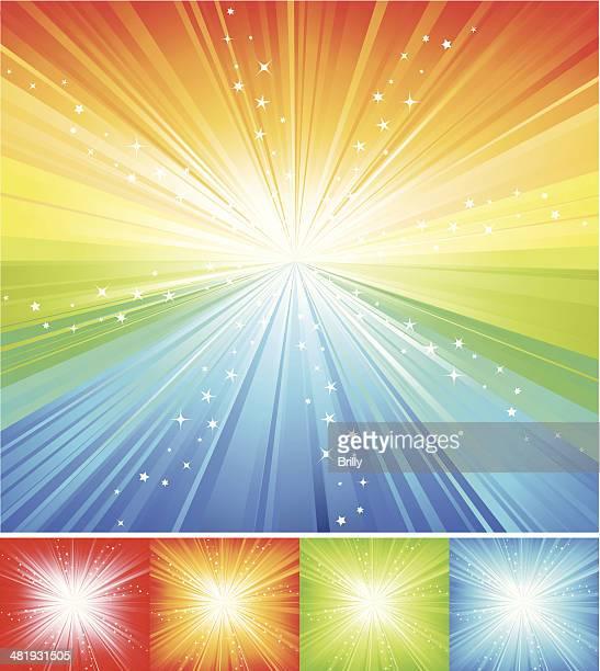 Multicolored Star burst