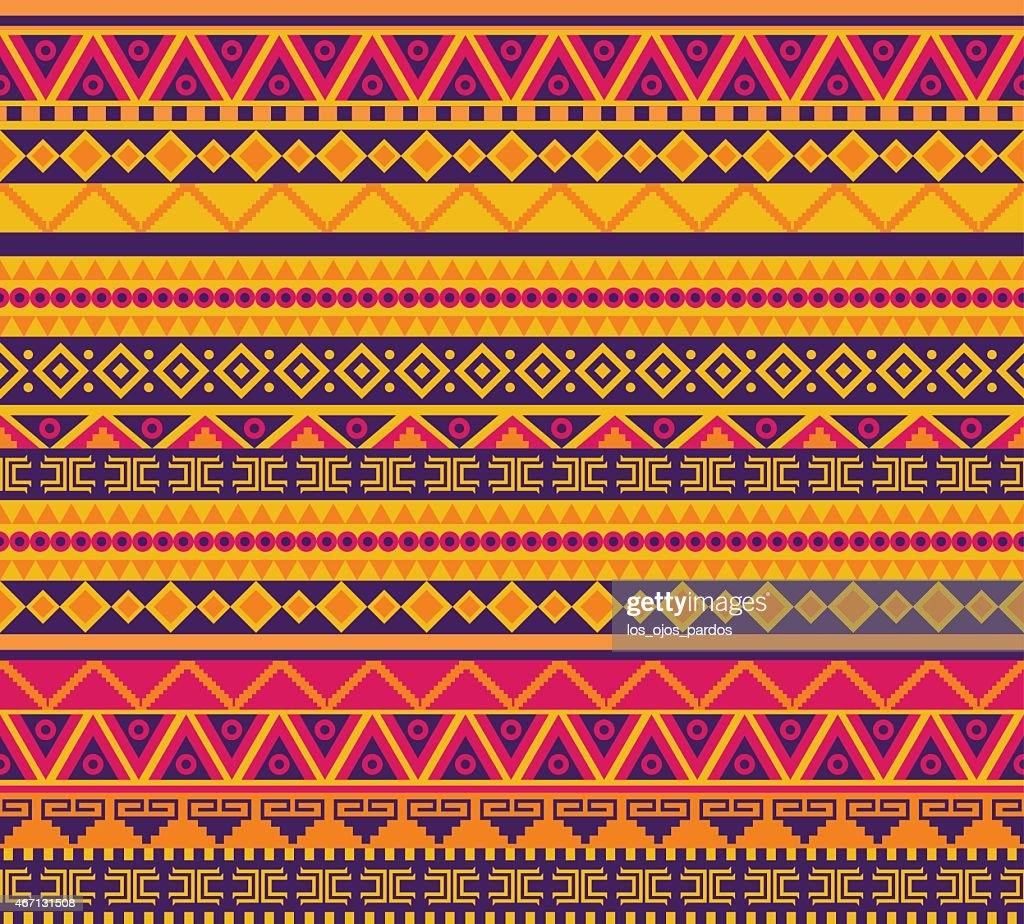 Multicolored tribal pattern background