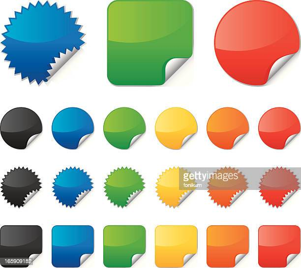 Multi-colored vector stickers collection