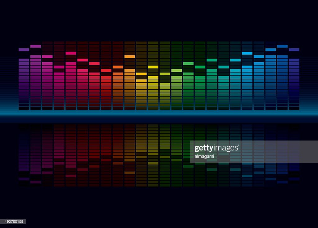Multicolorl Graphic Equalizer
