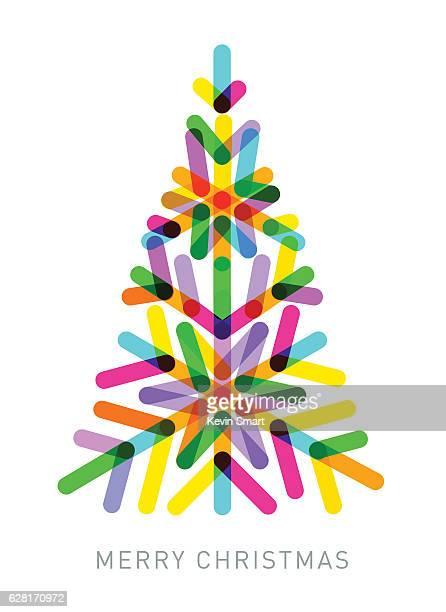 Multi-coloured Christmas Tree