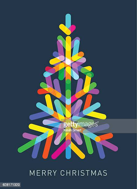 Multi-coloured Christmas Tree