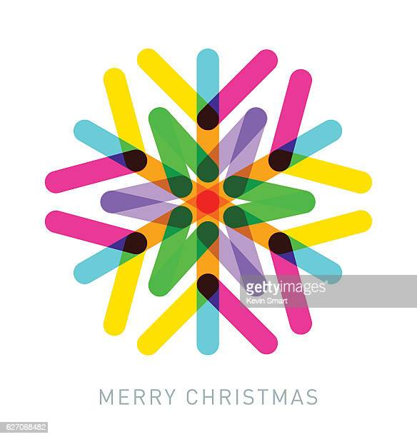 multi-coloured snowflake - christmas travel stock illustrations, clip art, cartoons, & icons
