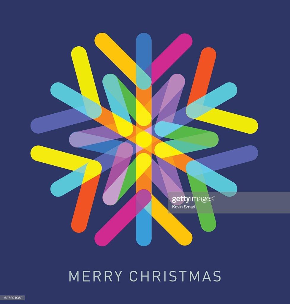 Multi-coloured Snowflake : stock illustration