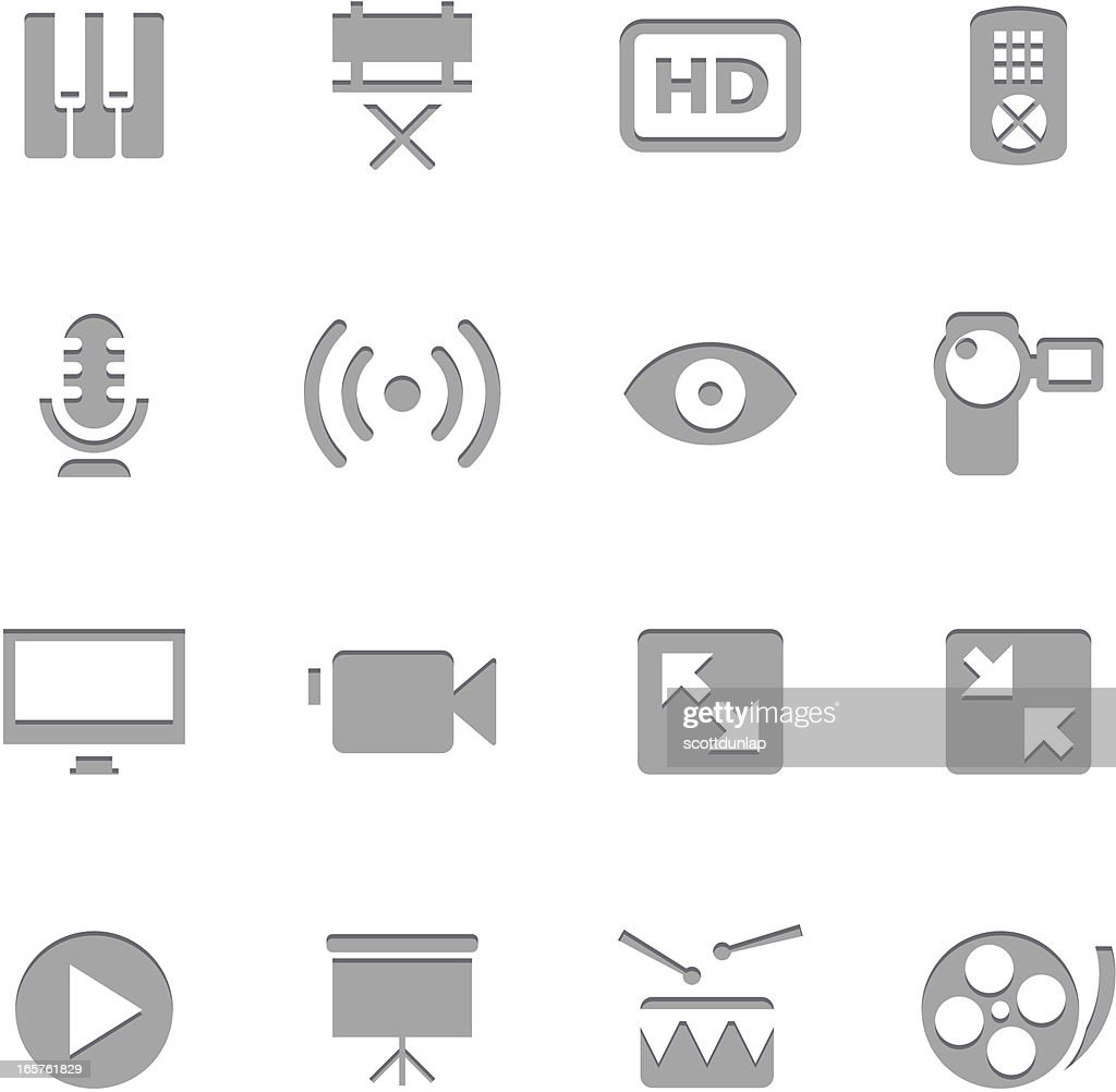 Multiedia Icons | Letterpress Series