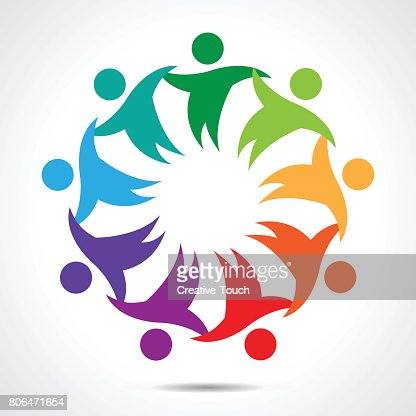 Multiethnic Group Of People Community Unity Friendship And