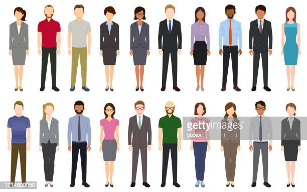multiethnic group of people - obscured face stock illustrations