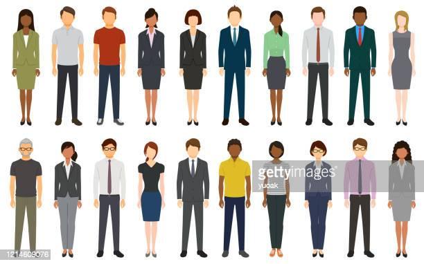 multiethnic group of people - adult stock illustrations