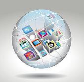 Multifunction icons ball