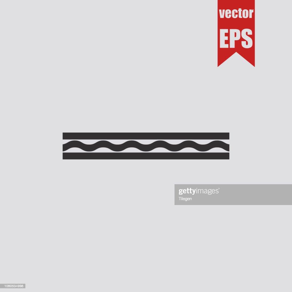 Multi-layered panel icon.Vector illustration.