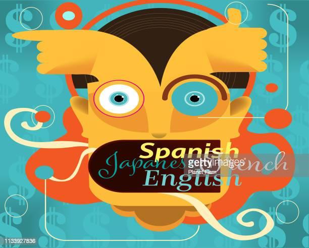 多言語の人 - コミュニケーション不足点のイラスト素材/クリップアート素材/マンガ素材/アイコン素材