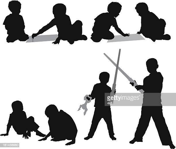 Multilpe image d'enfants