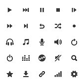 Multimedia and Audio Icons Set