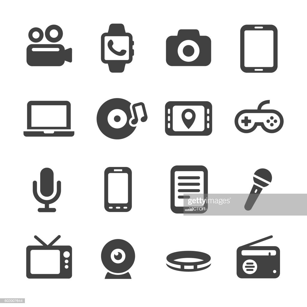Multimedia and Equipment Icons - Acme Series : stock illustration