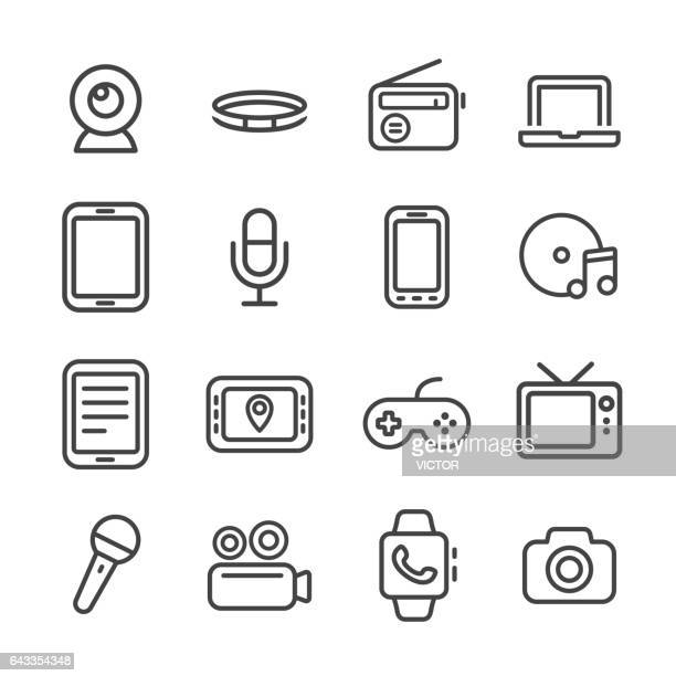 Multimedia und Equipment Icons Set - Line Serie