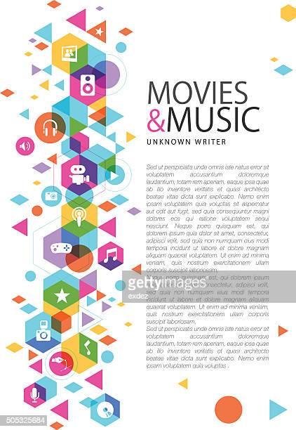 design multimédia sur des films et de la musique