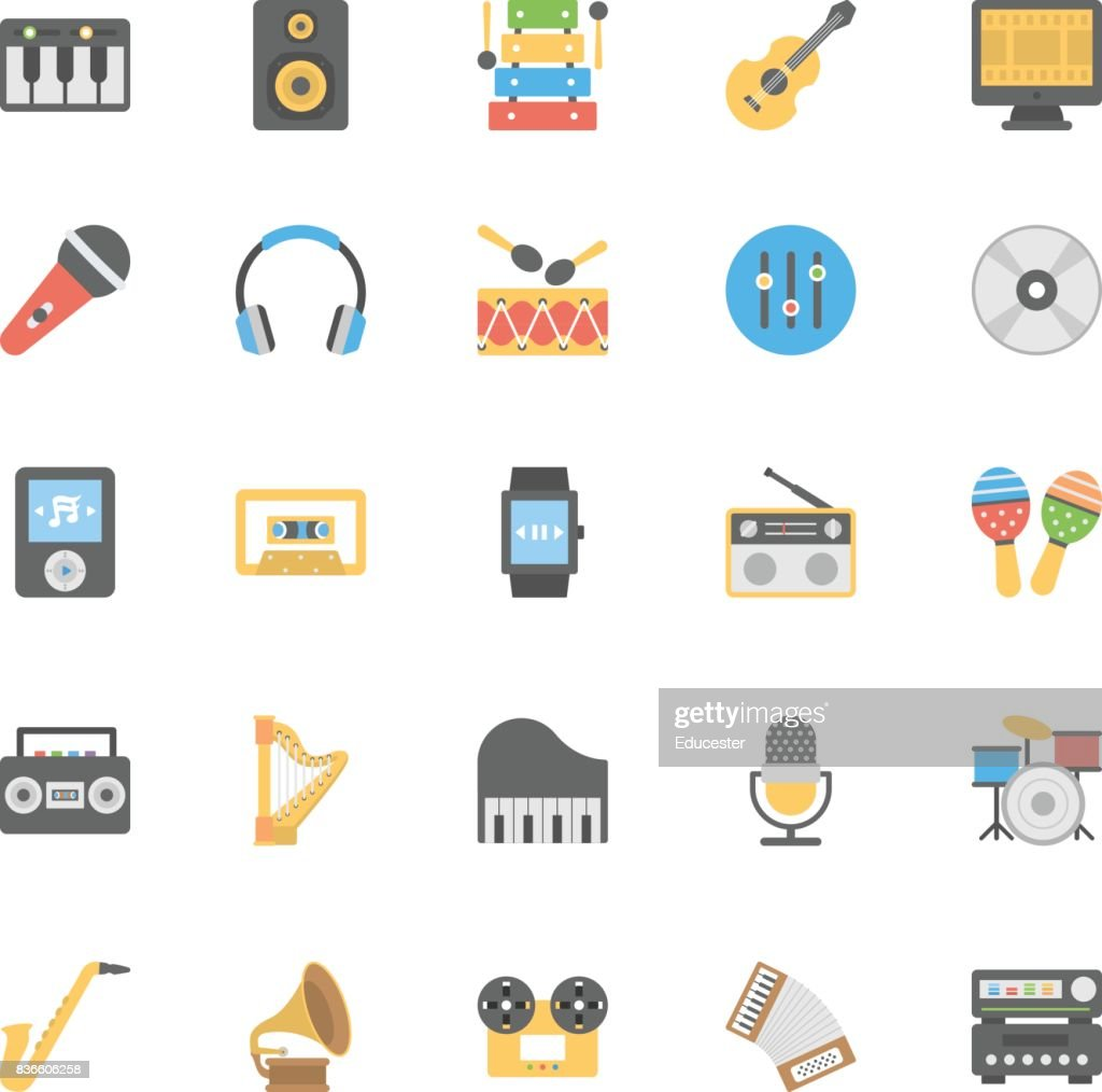 Multimedia Flat Colored Icons 1