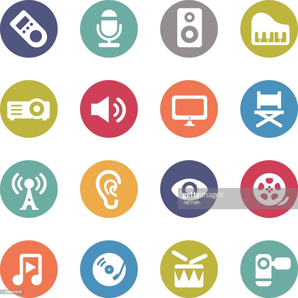 Multimedia Icon - Circle Series