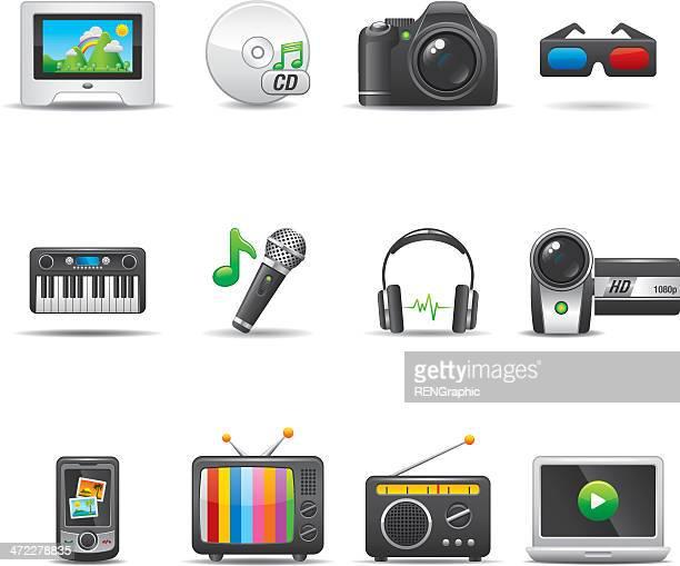 Multimedia Icon Set | Elegant Series