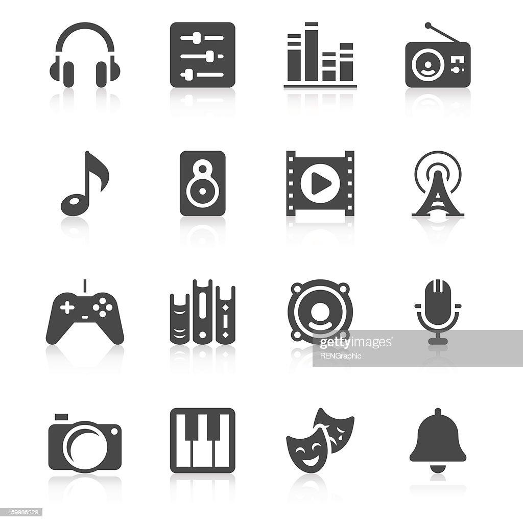 Multimedia Icon Set   Unique Series