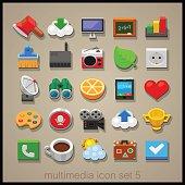 Multimedia icon set-5