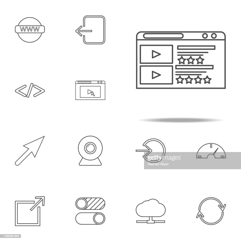 Multimedia icon. web icons universal set for web and mobile