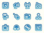 multimedia icons - azul frontera