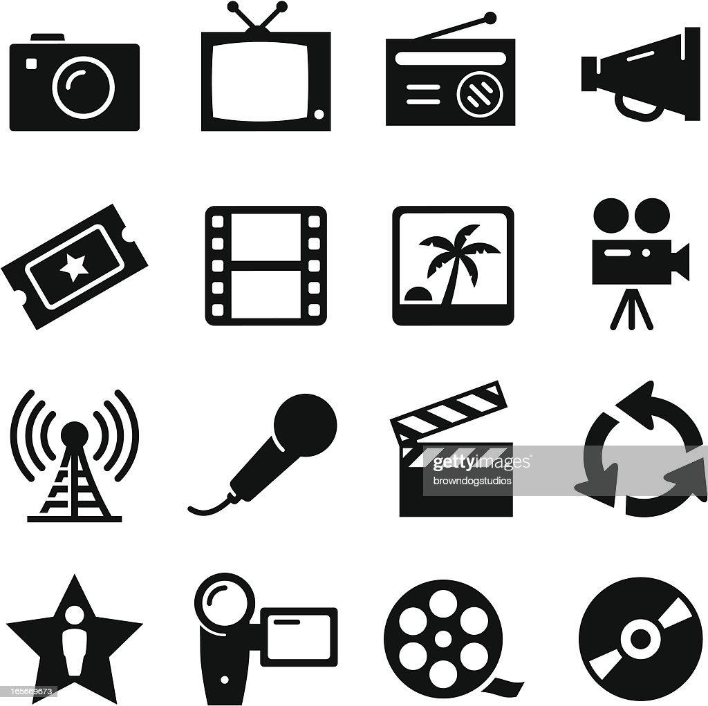 Multimedia Icons - Black Series