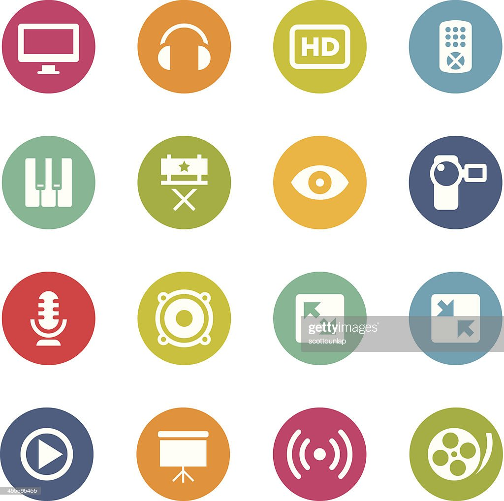 Multimedia Icons | Circle Series