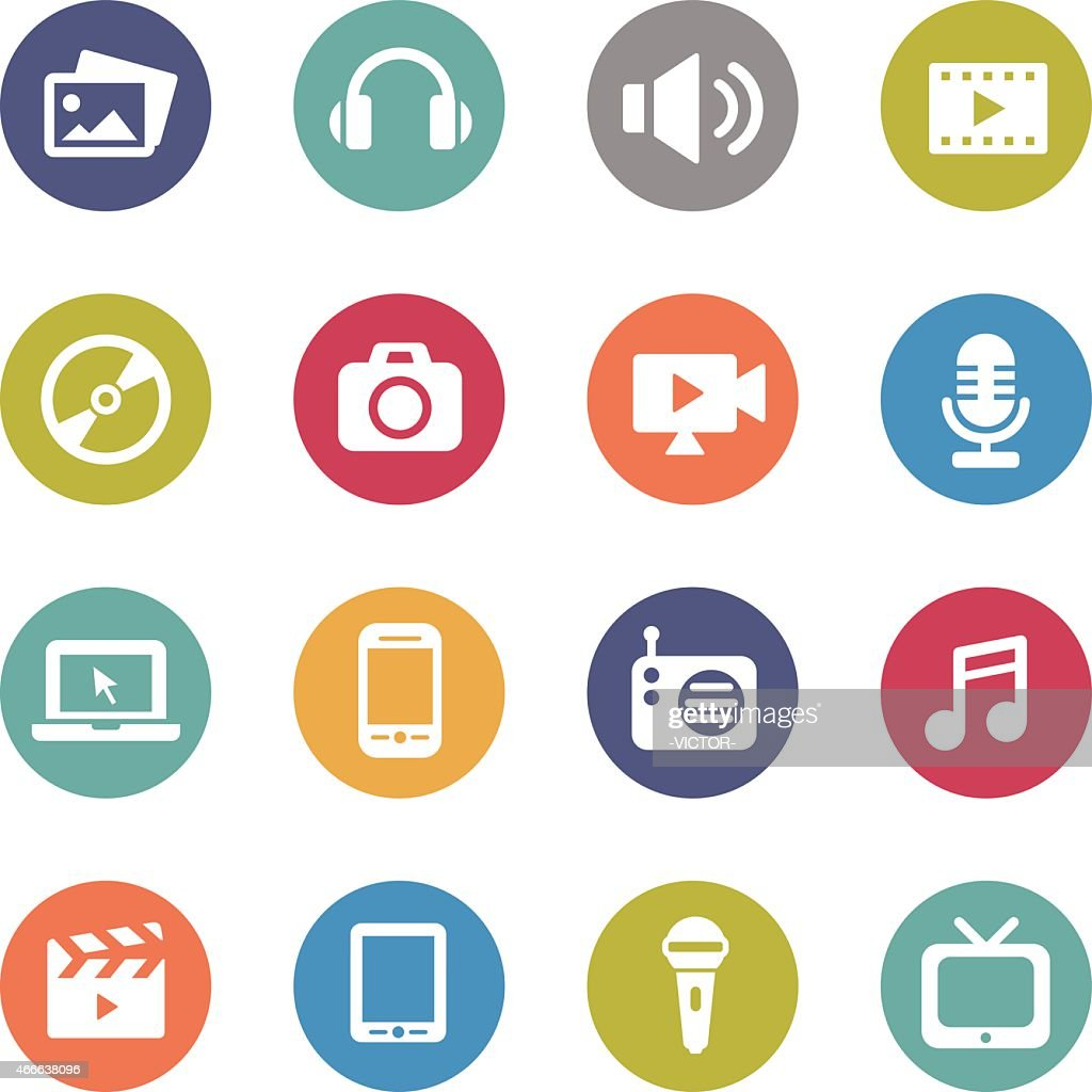 Multimedia Icons - Circle Series