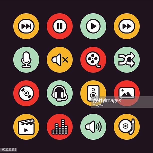 Multimedia icons - Regular Outline - Circle