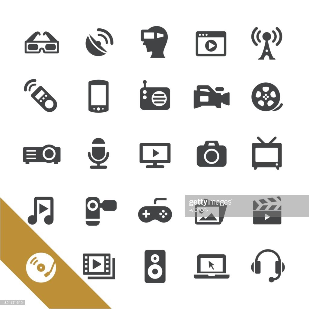Multimedia Icons - Select Series