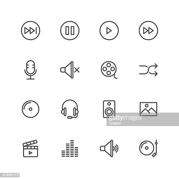 multimedia icons - video camera stock illustrations, clip art, cartoons, & icons